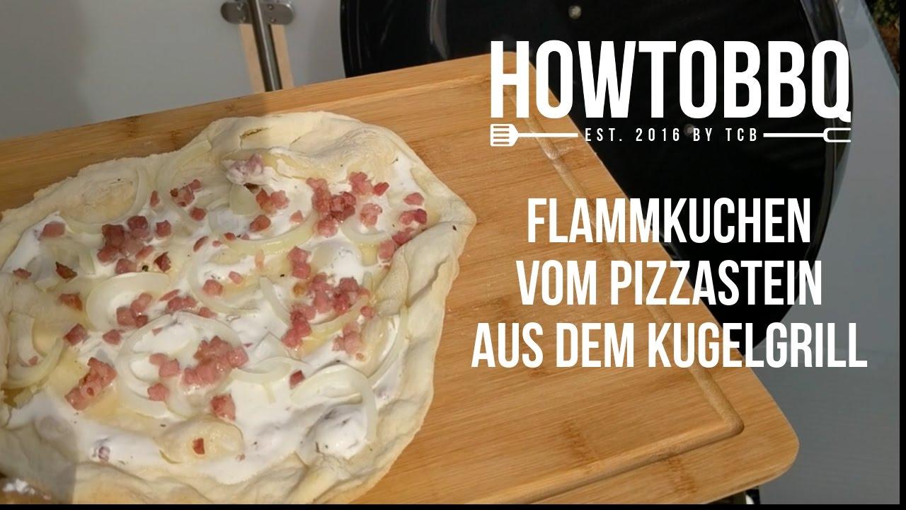 Flammkuchen Weber Holzkohlegrill : Flammkuchen vom grill youtube