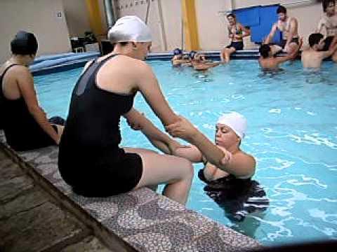Hidroterapia pr tica entrada na piscina equil brio e for Entrada piscina