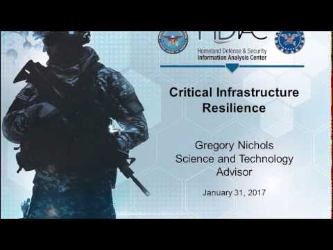 Critical Infrastructure Resilience Webinar