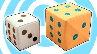 Easy origami dice instructions