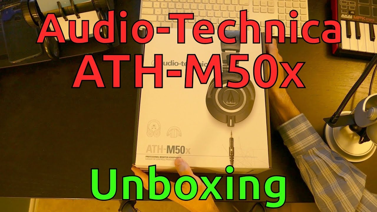 Audio-Technica ATH-M50x Unboxing