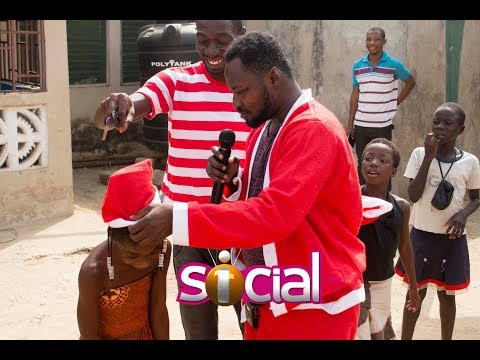 Funny Face - Father Christmas at an Orphanage - The Dare