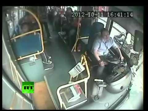 CCTV: Fainting driver