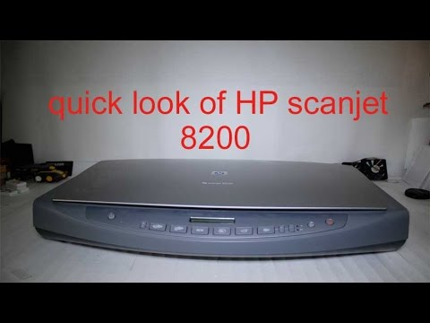 quick look at a HP scanjet 8200