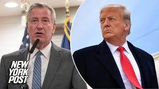 De Blasio's bid to rid NYC of Trump name could cost taxpayers over $30M | New York Post