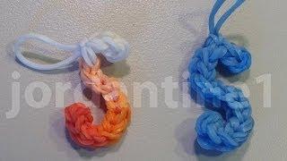 Skinny Letter S Alphabet Charm - Rainbow Loom, Wonder Loom