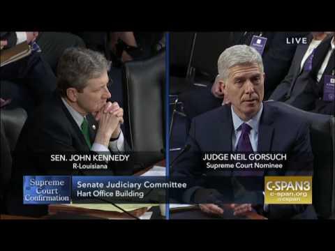 Sen. Kennedy- Judge Gorsuch Hearing