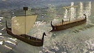 48 Oar Bireme Rams and Sinks Cargo Ship