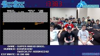 Super Mario Bros SPEED RUN in 0:19:52 (No Warps) by Kosmicd12 #SGDQ 2013 [NES]