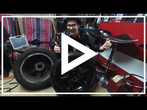 [ Repair ] – Fixing a punctured car tire (Using a tire repair toolkit)