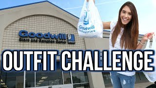 GOODWILL OUTFIT SHOPPING CHALLENGE!