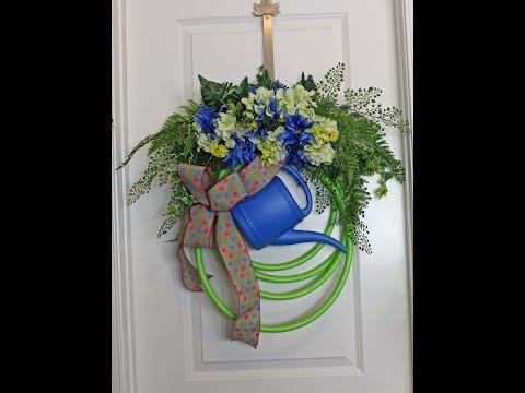 How to make a garden hose wreath