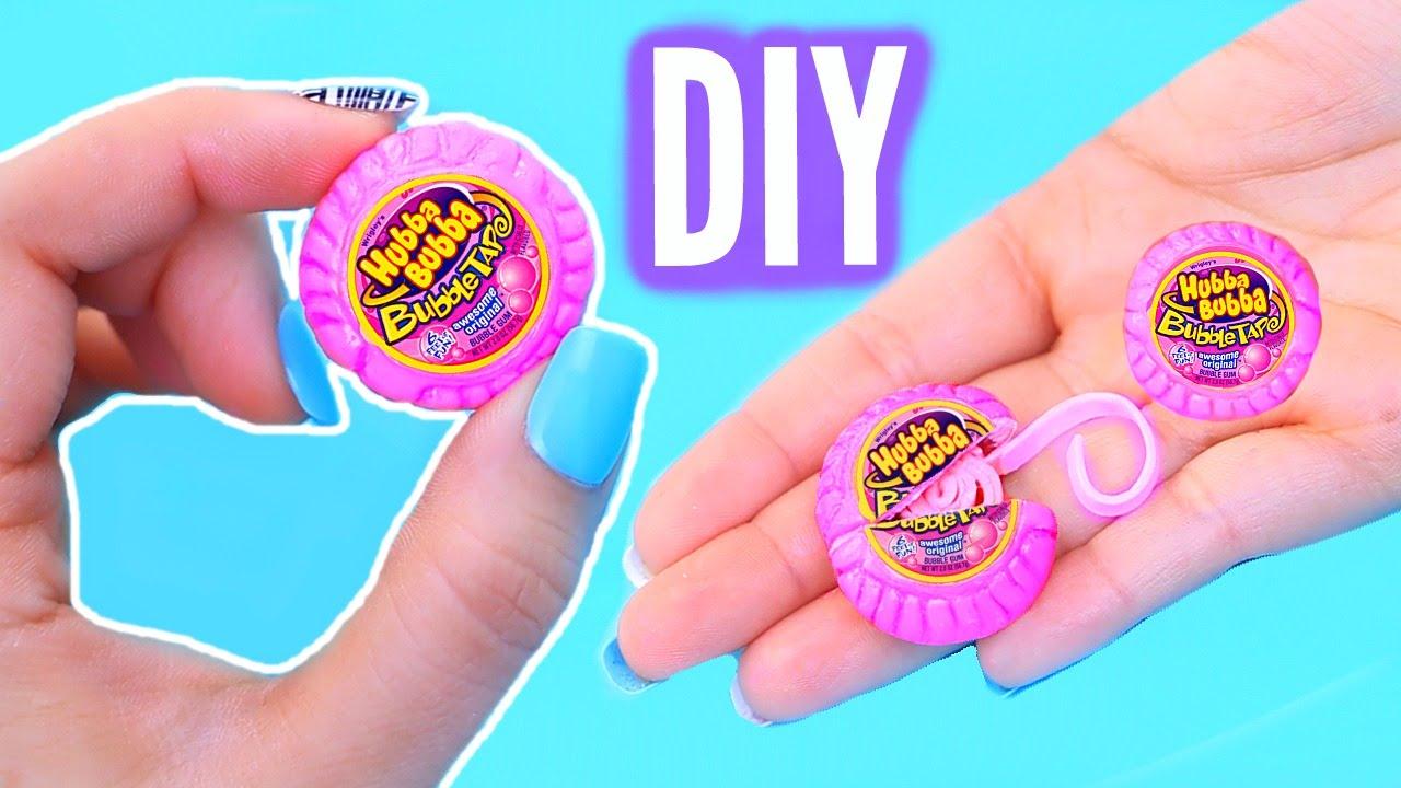 Diy Mini Bubble Gum  Real Gum Inside! World's Smallest Hubba Bubba Tape!   Youtube