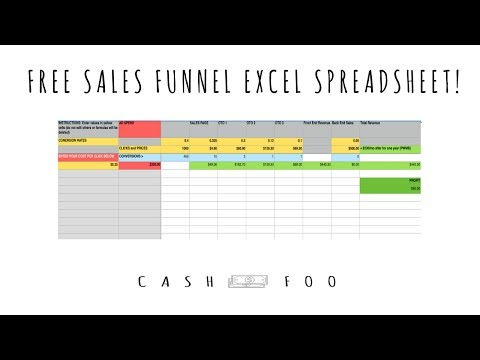 Free Sales Funnel Excel Template (Easy Calculator) - YouTube