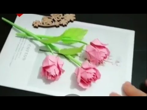 😊 DIY Velentain Special Pepar Rose Making🌹