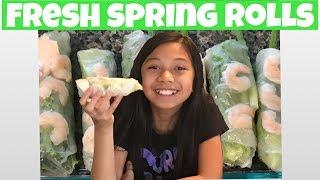 Vietnamese fresh spring rolls