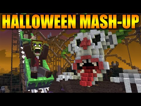 minecraft xbox 360 ps3 new halloween mash up pack texturepack themed world skins more - Halloween Xbox 360