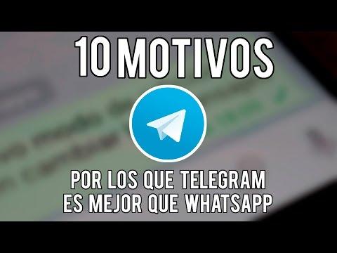 10 Razones para elegir Telegram antes que WhatsApp