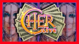 Nothin' But Doublin'! SDGuy1234 WINS BIG on Cher Slot Machine Bonuses & LIVE PLAY!