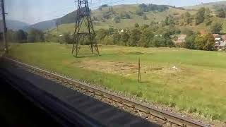 Слушать шум поезда онлайн. Успокаивающий стук колес поезда. Виды Карпат.