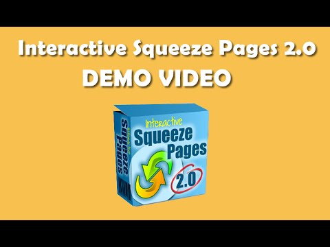 Demo Video For Interactive Squeeze Pages 2.0