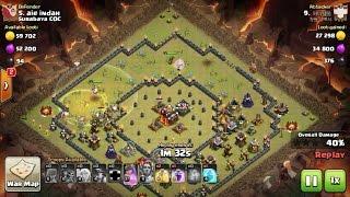 Tips Clash Of Clans TH 10: meratakan (3 star) base war type 21 menggunakan trops MinHeal