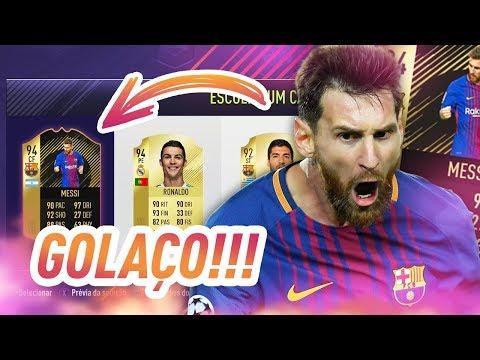 FUT DRAFT FIFA 18 - OLHA O GOLAÇO DO MESSI!!!!! 😱😱😱