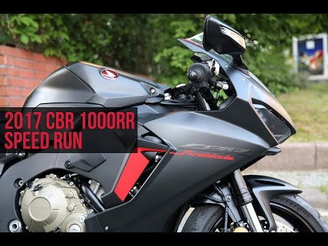 2017 CBR1000RR SPEED RUN