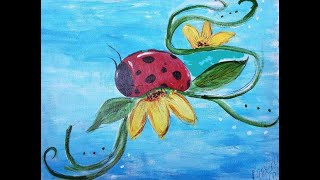 Fun and Easy Masterpiece in progress with The Lady Bug!