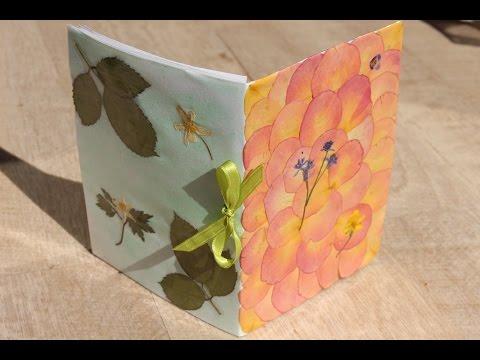 DIY: Cómo hacer una libreta con flores y hojas secas