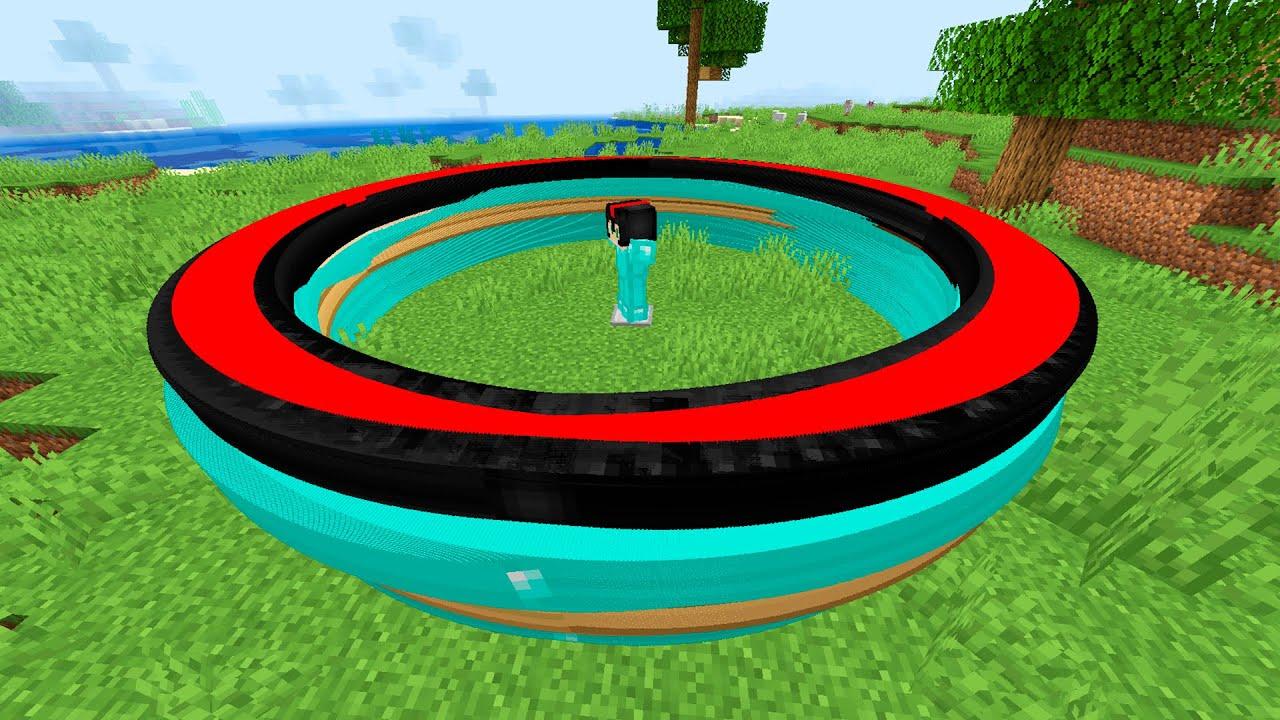 ¿cómo hacer un círculo perfecto de invictor en minecraft?