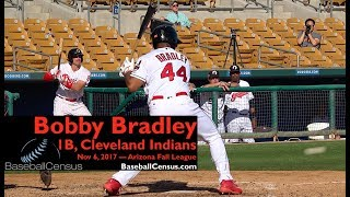 Bobby Bradley, 1B, Cleveland Indians — November 6, 2017 (AFL)
