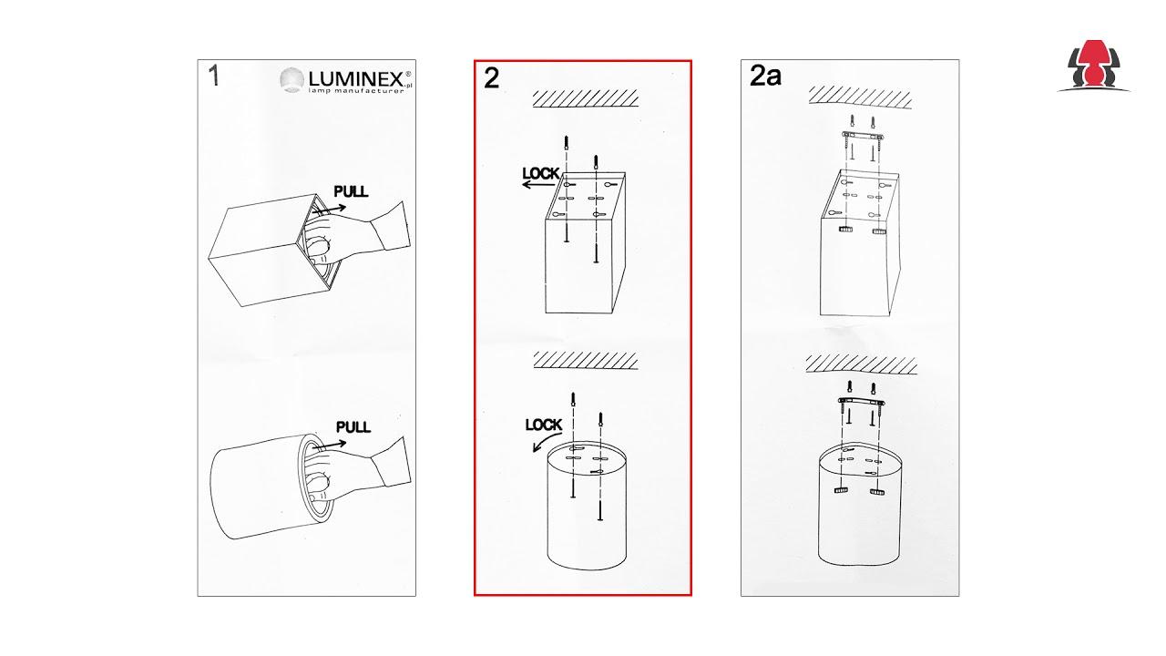 Instalacja Lampy Downlight Luminex