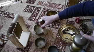 Поющие чаши. Тибетские чаши. Обучение на чашах. Медитация. Поющая чаша. #TIBETAN #BOWLS #SINGING