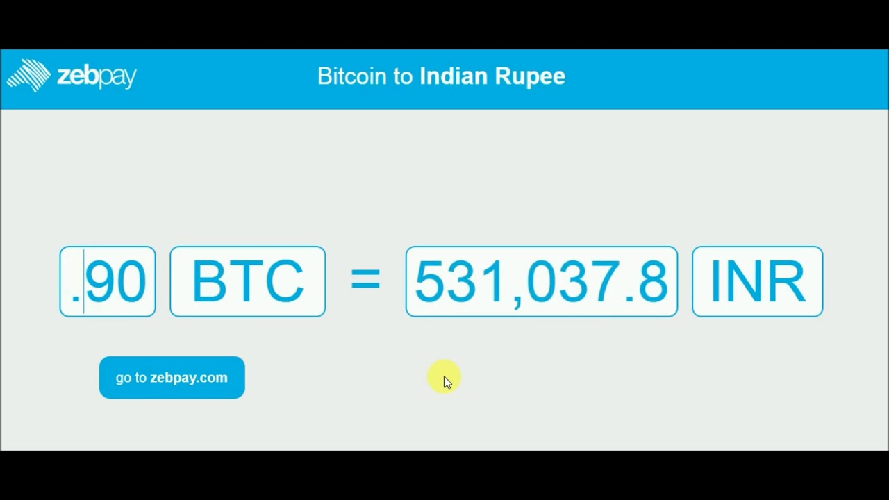 1 bitcoin į inr