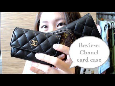 aedb9d33dfb0fb Review: Chanel card case as a wallet - YouTube