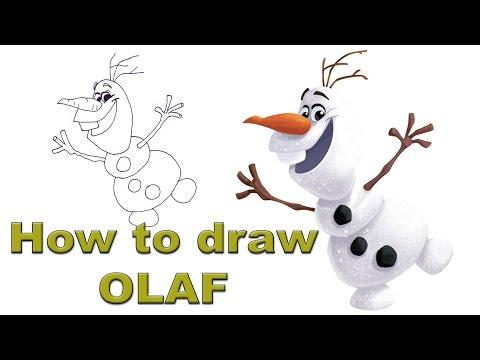 Как се рисува Олаф от Замръзналото кралство