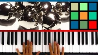 "How To Play ""Jingle Bells"" Piano Tutorial / Sheet Music"
