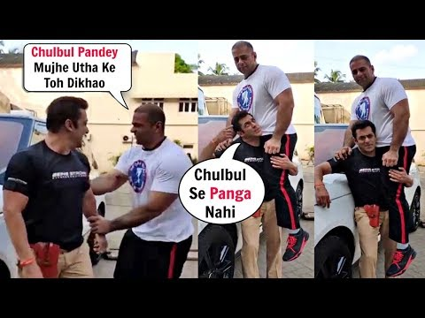 Dabangg 3 Salman Khan Lifts 150 Kg Nephew On His Shoulder 😨😨 Mp3