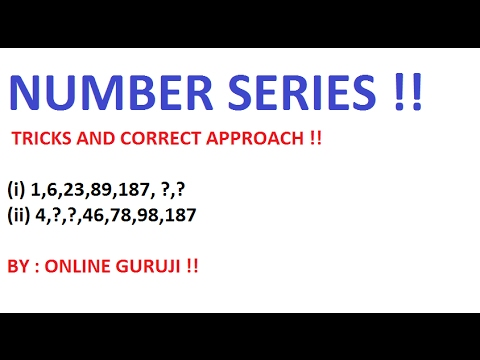 HOW TO SOLVE NUMBER SERIES OR SEQUENCE  PROBLEMS- FOR SSC CGL & IBPS
