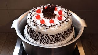 Black Forest Cake Recipe by Aliza l Without Oven l Chocolate Birthday Cake