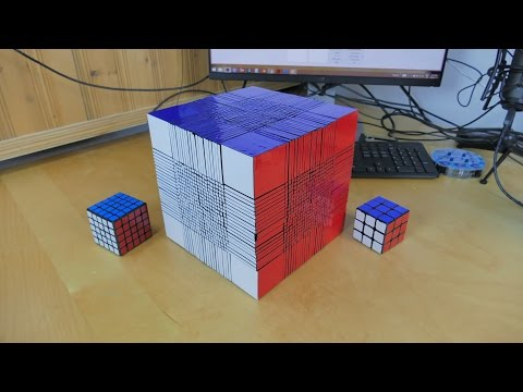 Remember the 22x22x22 Rubik's cube? It's working