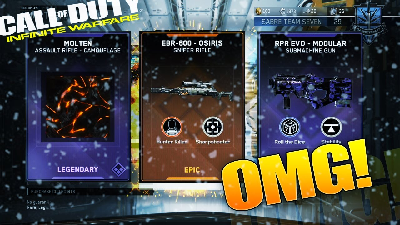 12 Days of Winter Christmas SUPPLY DROPS. INFINITE WARFARE Opening ...