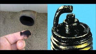 ваз 2106 черный налет в выхлопной трубе ( глухих )