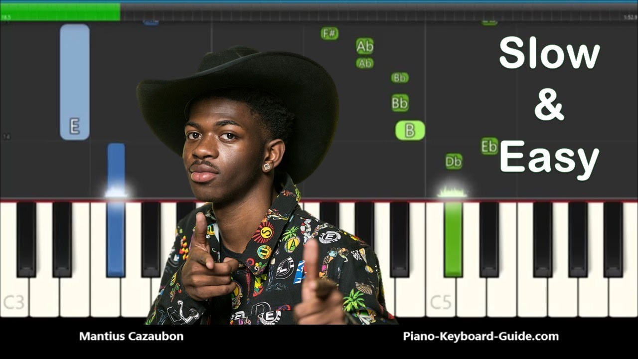 Lil Nas X Old Town Road Slow Easy Piano Tutorial I Got The Horses In The Back