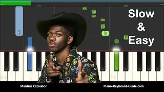 lil-nas-x---old-town-road-slow-easy-piano-tutorial-i-got-the-horses-in-the-back