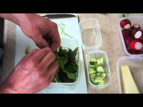 How To Make A Lunch Salad - Binaural - ASMR