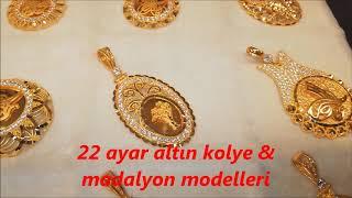 22 Ayar Altın Zincir Kolye Modelleri & Altın Madalyon Çeşitleri