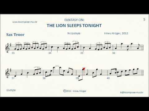 the lion sleep tonight sheet music