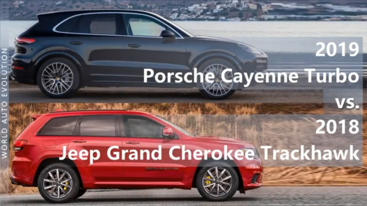 2019 Porsche Cayenne Turbo vs 2018 Jeep Grand Cherokee Trackhawk (technical  comparison)